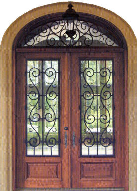 Charleston 3/4 lite double door w/ elliptical Charleston transom_Homestead door companies_Alabama