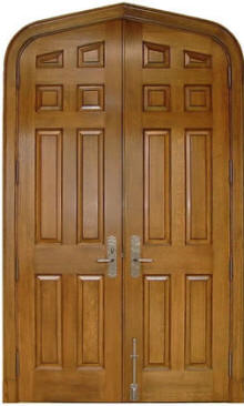 Quartersawn White Oak Gothic top double door_Homestead door companies_Alabama